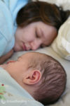 Mother and baby co sleeping